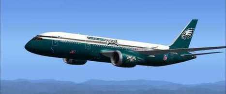 FS2004/FSX - Philadelphia Eagles Boeing 787-8 | CultureTraits | Scoop.it