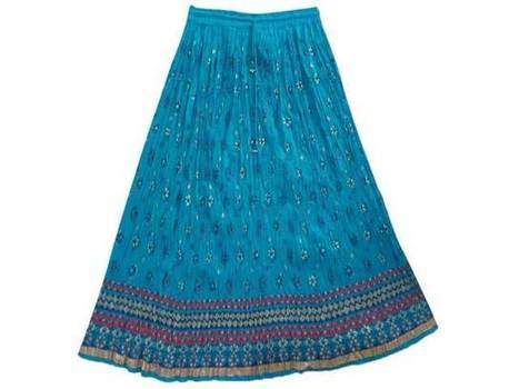 Bohemian Blue Red Floral Printed Cotton Skirt | Dresses | Scoop.it