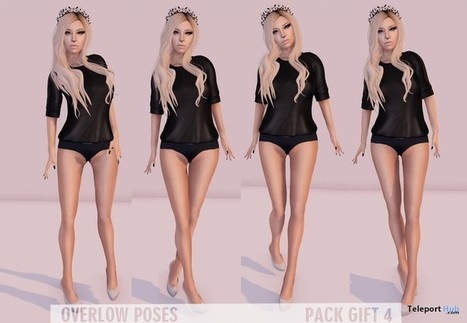 Pose Pack 4 Gift by Overlow Poses | Teleport Hub - Second Life Freebies | Second Life Freebies | Scoop.it