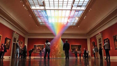 Indoor Rainbow Made of Thread Flows Through the Toledo Museum of Art | Landart, art environnemental | Scoop.it
