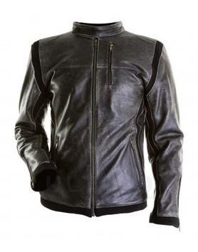 Jupiter Distressed Cow Hide Vintage Black Men's Leather Jacket | Designer Leather Jackets | Scoop.it
