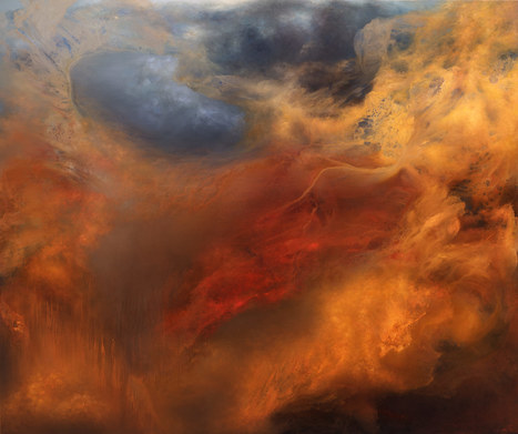 Artist Samantha Keely Smith Explores Powerful #Collisions of #Dark and #Light in Her #Abstract #Elemental #Paintings. #art   Luby Art   Scoop.it