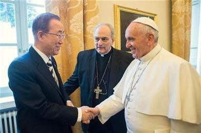 "UN, Vatican team up for climate change agenda (""it's good that they are on the same side"") 