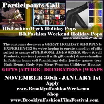 BKFashionWEEK & BKFashion Weekend Holiday Pops {upstore} You MAKE IT- A Place to SELL IT! apply now | Brooklyn By Design | Scoop.it