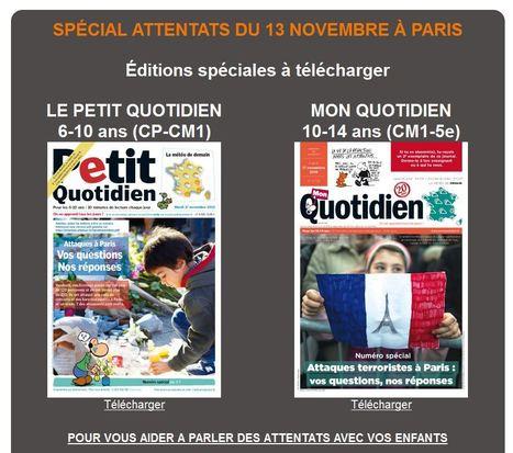 Editions spéciales - Attentat http://www.playbacpresse.fr  @petitquotidien @monquotidien @lactu #educattentats | TUICE_primaire_maternelle | Scoop.it