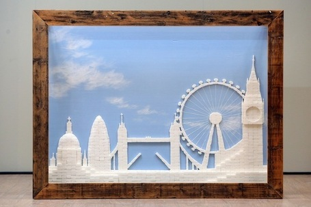 2,186 Sugar Cubes Form a Beautiful London Skyline | Le It e Amo ✪ | Scoop.it