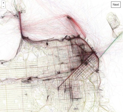 These Lovely Maps Trace the Most Picturesque Routes of Every City in the World | Sustainable Futures | Scoop.it