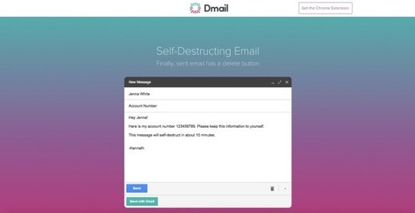 Dmail Makes Your Gmail Messages Self-Destruct | Google Plus and Social SEO | Scoop.it