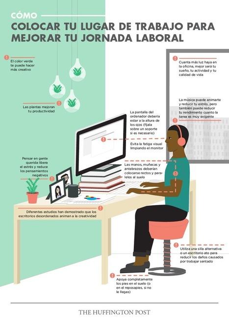 Organiza tu mesa de trabajo para ser más productivo #infografia #infographic #rrhh #productividad | Seo, Social Media Marketing | Scoop.it