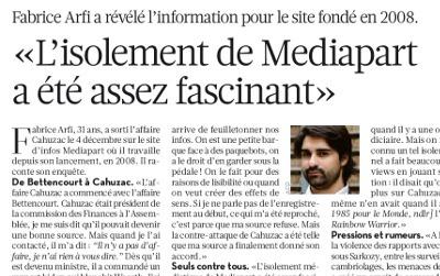 «L'isolement de Mediapart  a été assez fascinant» | DocPresseESJ | Scoop.it