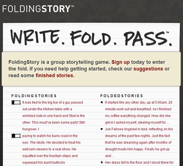 FoldingStory | The Group Storytelling Game | 2.0 Tools... and ESL | Scoop.it