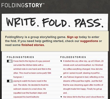 FoldingStory | The Group Storytelling Game | Create: 2.0 Tools... and ESL | Scoop.it