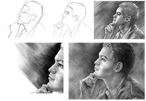 Profile Portrait Drawing Tutorial | JABs scribbles | Scoop.it