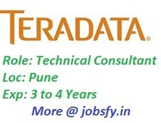 Teradata Hiring Technical Consultant @ Pune on December 2014 « jobsfy | Latest Job Alerts | Scoop.it