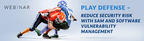 Play Defense - Reduce Security Risk with SAM and Software Vulnerability Management Webinar | Software License Optimization and Software Asset Management | Scoop.it