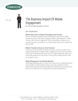 The Business Impact Of Mobile Engagement - CIO White Papers Research Library | mobile business | Scoop.it