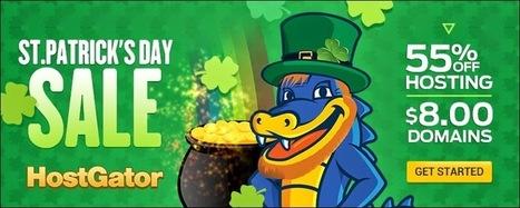 St. Patrick's Day Sale: 55% Off Hosting + $8 Domains! by Hostgator ~ Web Designer Pad | Web Designer Pad | Scoop.it