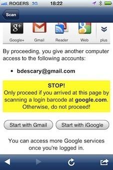 Gmail : utilisez votre smartphone pour ouvrir une session sur un PC | Les Outils - Inspiration | Scoop.it