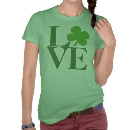 Green Shamrock Love Shirt from Zazzle.com   Saint Patrick's Day T-Shirts   Scoop.it