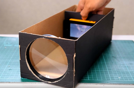 How To Make A Smartphone Projector Using A Shoebox | Allicansee | Scoop.it