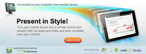 Splashtop - remote desktop software with high performance video & audio | Digital Presentations in Education | Scoop.it