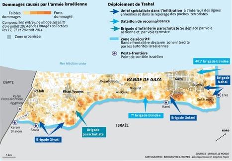 Carte : La destruction provoquée par la guerre à Gaza en 2014 (Le Monde) | Géographie des conflits | Scoop.it