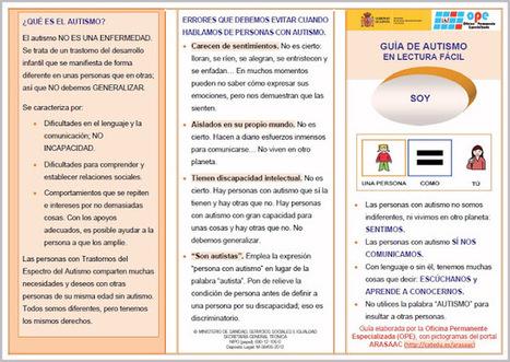 Guía de autismo en lectura fácil para evitar el uso peyorativo de la palabra autismo. | Las TIC y la Educación | Scoop.it