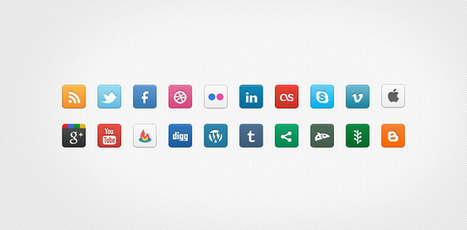 TutsPress | 60 Amazing Monochrome Social Icons with Beautiful jQuery Tooltip! | photoshop ressources | Scoop.it