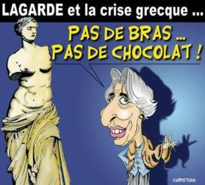 Christine Lagarde et la crise grecque | Baie d'humour | Scoop.it