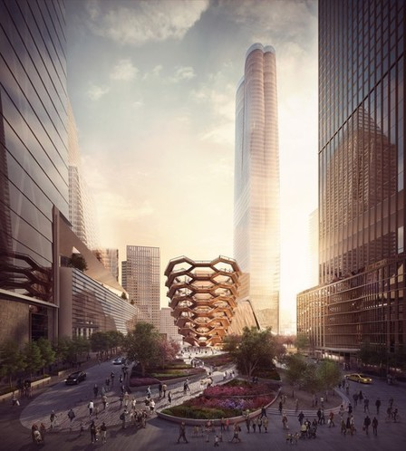 "Heatherwick Studio's ""Vessel"" Will Take the Form of an ENDLESS Stairway at New York's Hudson Yards 