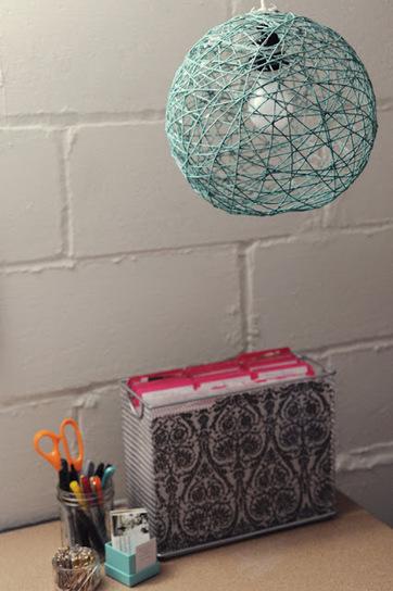Rust & Sunshine: Yarn Ball Lamp   Thinking out loud   Scoop.it