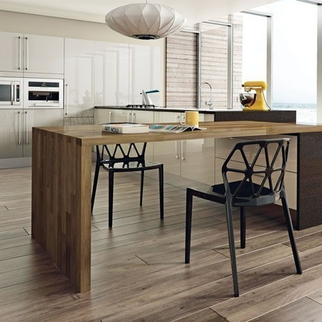 Modern kitchen with island table | Contemporary kitchen ideas | housetohome.co.uk | Home andFamily | Scoop.it