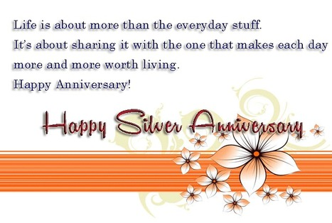 Silver Jubilee Wedding Anniversary Quotes:25th Anniversary Wishes   Entertainment   Scoop.it