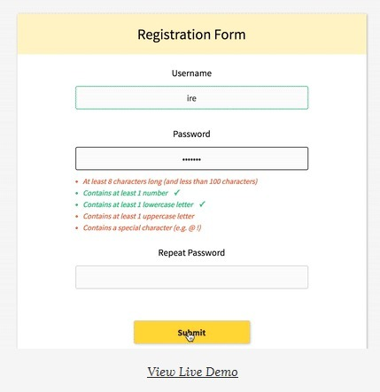 Realtime Form Validation | Veille perso | Scoop.it