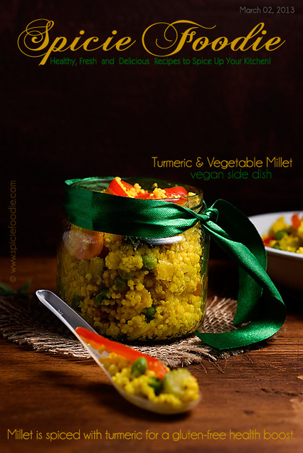 Turmeric and Vegetable Millet: Gluten-Free Side Dish | Healthy ... | Healthy Eating - Recipes, Food News | Scoop.it