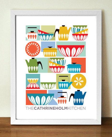 CATHRINEHOLM kitchen art decor mid century poster print | Posters - Mid Century Danish and Scandinavian Art | Scoop.it