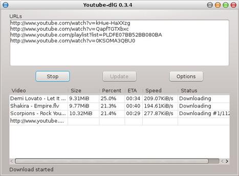 Youtube-dlG - Une interface graphique pour télécharger des vidéos Youtube (and co) facilement | Time to Learn | Scoop.it
