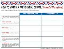 2012 Presidential Debates | MiddleWeb | 2012 Election News | Scoop.it