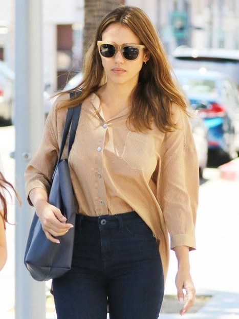 Jessica Alba Reveals the One Denim Style She Won't Try | Jeans Fashion | Scoop.it