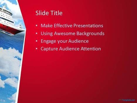 Free Cruise PPT Template - PPT Presentation Backgrounds for Power Point - PPT Template | Education PPT Templates | Scoop.it