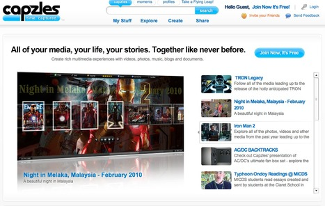 Capzles Social Storytelling | Online Timeline Maker | Share Photos, Videos, Text, Music and Documents Easily | Edu 2.0 | Scoop.it