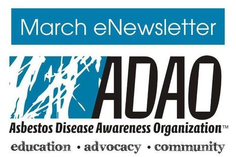 Asbestos Disease Awareness Organization (ADAO) March 2013  eNewsletter | Asbestos and Mesothelioma World News | Scoop.it
