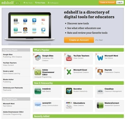 Edshelf.com | Directory of Digital Tools for Educators | Fill Your Digital Schoolbox | Scoop.it