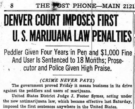 Marijuana in Colorado has a long history and an uncertain future   Drug law reform   Scoop.it