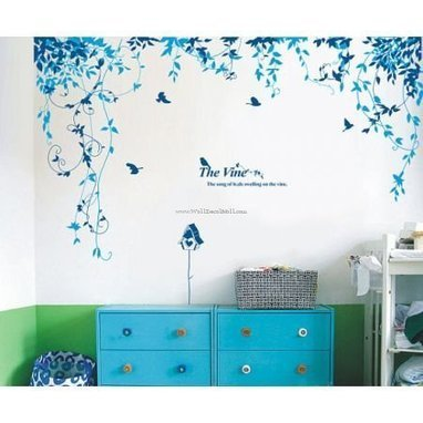 The Vine The Song of Buds Swelling on the Vine Wall Decals – WallDecalMall.com | Flower Wall Decals | Scoop.it