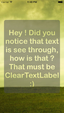ClearTextLabel for iOS - Cocoa Controls | iOS Utils | Scoop.it