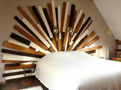 Sunny pallet headboard 1001 pallets ideas - Lit en palettes de bois ...