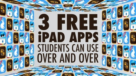 Three Free iPad Apps Students Can User Over and Over - Learning in Hand @TonyVincent | iPad apps in de klas | Scoop.it
