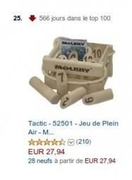Mölkky depuis 566 jours dans le top 100 Amazon.fr - Association Wellouëj | Mölkky | Scoop.it