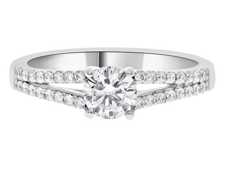 Split band diamond ring pr1007 | Engagement Rings | Scoop.it